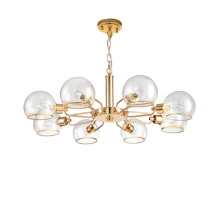 Decorative modern lamp crystal glass bulb pendant chandelier lighting