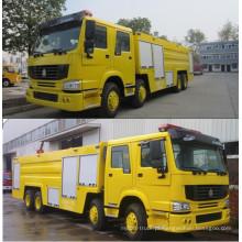 Caminhão de bombeiros concurso China fabricação nova resgate espuma e água