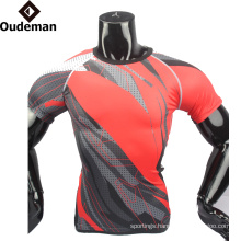 2017 compression uniforms blank fitness shirt wholesale custom design good sublimated compression shirt for man