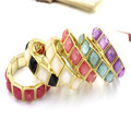 Factory Price Fashion Style Antque Square Gold Matel Bangle Bracelet