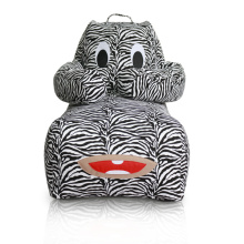 Zebra Stripe canvas beanbags in Animal shape
