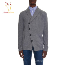 100% cashmere 2016 winter men's shawl collar cardigan Sweater
