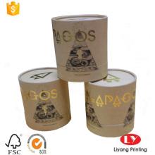 Popular browm kraft paper cylinder gift box