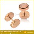 Pendientes chapados en oro rosa Pendientes chapados en acero quirúrgico Cheater