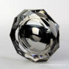 Cendrier argenté en cristal noir pour le fournisseur de la Chine de décoration de bureau (JD-CA-510)