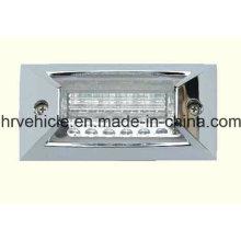 Rectángulo Lámpara de marcador lateral transparente para servicio pesado
