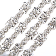 crystal bling bling sash decorative iron on belt trims RH840
