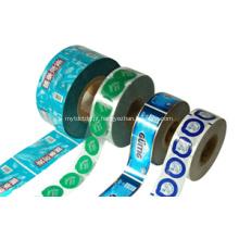 Impressão em rolo de plástico 12 cores Etiqueta