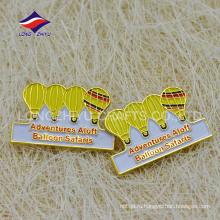 Горячая распродажа воздухе воздушный шар смелее желтый pin эмали