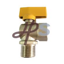 válvula de bola de cobre de alta calidad del gas de la manija de aluminio