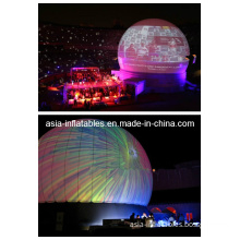 Large Outdoor Inflatable White Portable Projection Dome for Planetarium Laser Shows