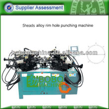 AUTO 5 HEADS SINGLE WALL ALLOY RIM HOLES PUNCHING MACHINE