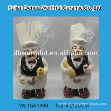 Chef kitchenware series ceramic utensil holder