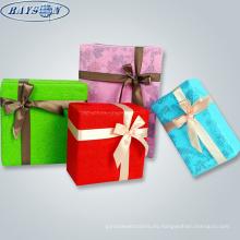 caja de regalo no tejida embalaje papel de regalo de navidad regalo de la muestra libre de papel