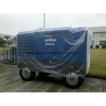 Atlas Copco - Liutech 599cfm 15bar Tragbarer Schraubenluftverdichter