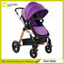China Baby Kinderwagen Hersteller Verstellbare Rückenlehne Fußstütze Reversible Seat Air aufgeblasen Swivel Wheels mit Suspension
