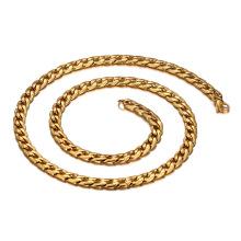 Chaîne épaisse d'acier inoxydable d'or de colliers d'hommes, différents types de bijoux de chaînes de collier d'or