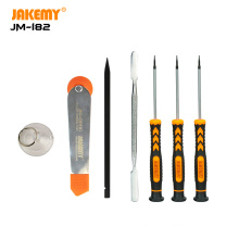 JAKEMY 7 IN 1 Wholesale Dismantling Tools with mini screwdriver suction cup spudger opener DIY hand tool for cell phone laptop