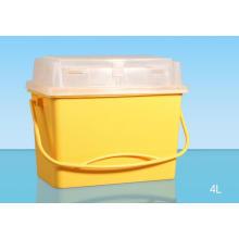 4L медицинский пластиковый острый контейнер