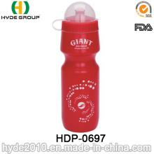 botella de agua potable portátil de los deportes de BPA Free PE (HDP-0697)
