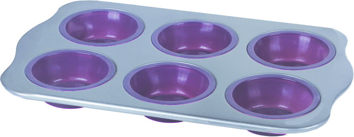 Carbon steel frame silicone muffin pan