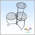 China supplier wholesale high quality antique decorative fancy metal wire bonsai shelf for flower pot display