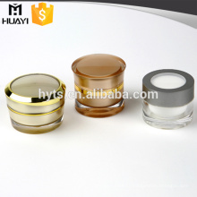 empty 30g 50g gold cosmetic jars with acrylic material for face cream