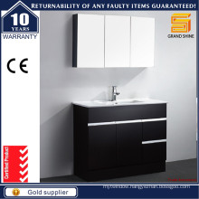 Floor Standing Black Lacquer Bathroom Cabinets with Kick Board