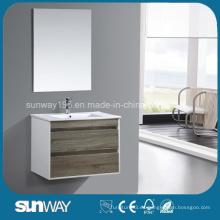 2016 Gabinete moderno del espejo de la melamina de la venta caliente con el espejo