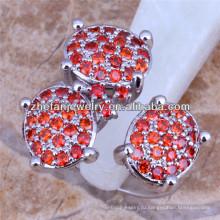 три каменные кольца дизайн красный бриллиантовое кольцо Дубай обручальные кольца