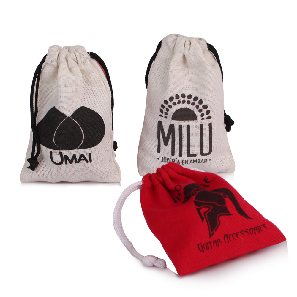 Logo Cotton Drawstring Gift Bag