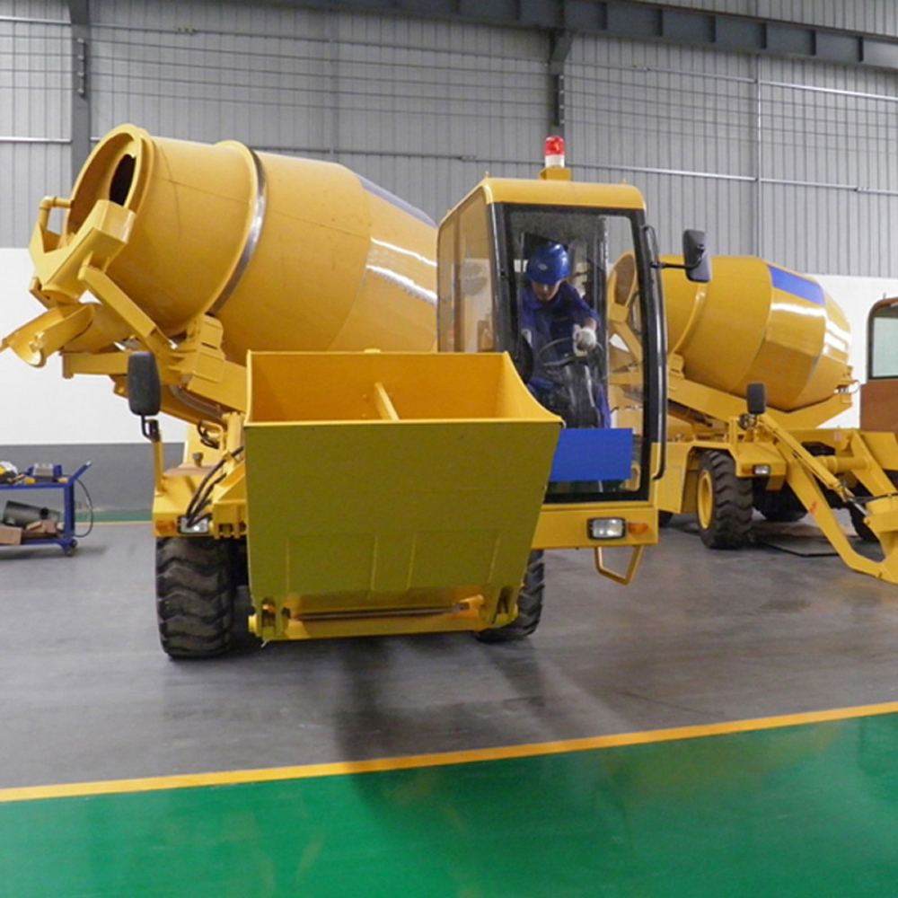 1 2self loading concrete mixer for sale