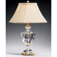 Einzigartige weiße LED Glas Tischlampe Tischlampe, Stoff Schreibtischlampe 2143
