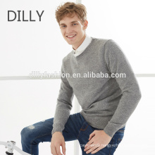 Hot sale basic style cashmere pullover O neck knitting design sweater for men