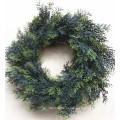 2014 Китай wholesle искусственный зеленый венок на Рождественский декор из ИУ рынок
