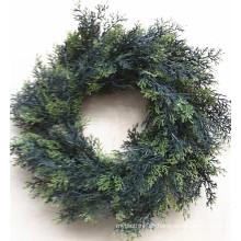 Künstlicher grüner Kranz 2014 China-Großverkaufs für Weihnachtsdekor von Yiwu-Markt