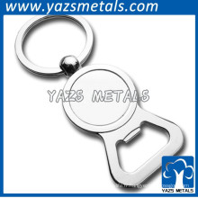 porte-clés en métal ouvre-bouteille en acier inoxydable