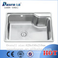 DS 6245 Model 304 European corner kitchen plastic inserts stainless hot selling sink