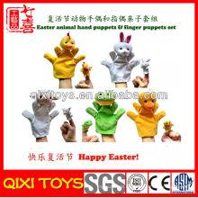 Hecho en China Conjunto de títeres y marionetas de mano de felpa de animales de Pascua de Pascua