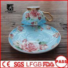 2015 Innovative Products Ceramic Type Coffee Cup And Saucer Set