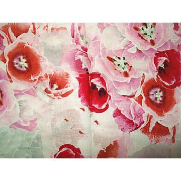 Impressão de seda linho brocado tecido de cetim
