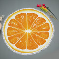 Fruit shaped summer microfiber circle beach towel