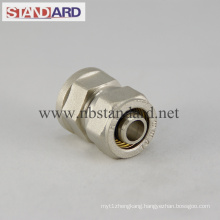 Brass Compression Fitting with Female Thread Coupling