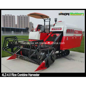 Chinese Manufacturing 4lz-4.0 Rice Combine Harvester Sales in Myanmar