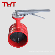 Handwheel grooved butterfly valve for fire fighting