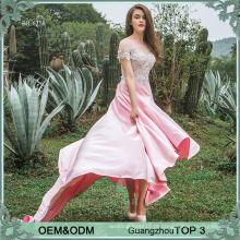 Appliques mulheres cor-de-rosa vestidos de fiesta vestido de noite fornecedores de ouro vestido de noite guangzhou