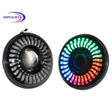 7 Inch Round LED RGB Headlight Multi Function Bluetooth Control Phone APP for Offroad Car & Motorcycle LED Headlight Bulb
