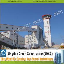 China Jdcc galvanizado construção de fábrica de estrutura de aço leve