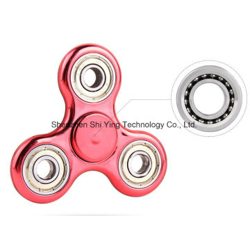 2017 Promotion Metal Finger Spinner Fidget Toy with LED Light