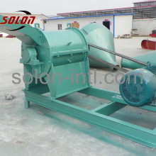 Large market with Wood pallet grinding crusher